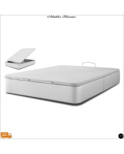 Canape abatible polipiel blanco ref-01